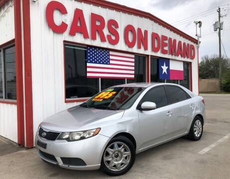 2013 Kia Forte for sale at Cars On Demand 2 in Pasadena TX