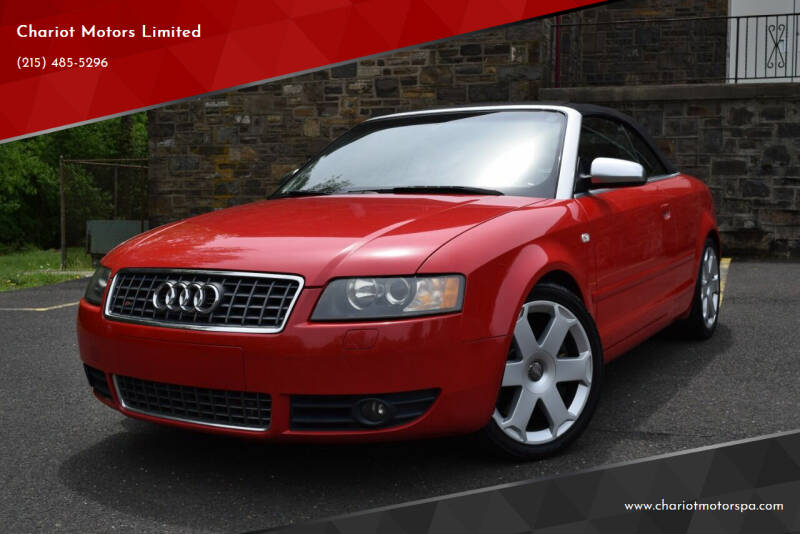2005 Audi S4 for sale at Chariot Motors Limited in Feasterville Trevose PA