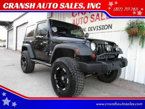 2009 Jeep Wrangler for sale at CRANSH AUTO SALES, INC in Arlington TX