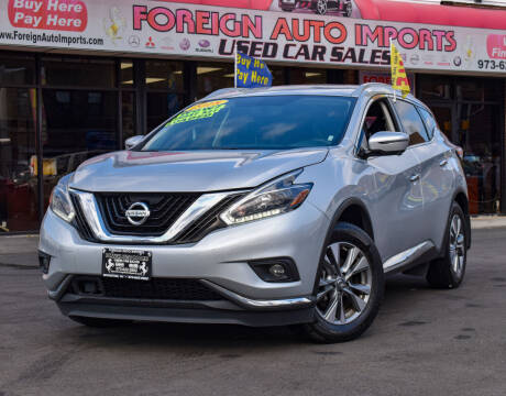 2018 Nissan Murano for sale at Foreign Auto Imports in Irvington NJ