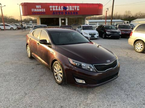 2015 Kia Optima for sale at Texas Drive LLC in Garland TX