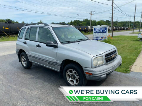 2001 Chevrolet Tracker for sale at SIMPSON MOTORS in Youngstown OH