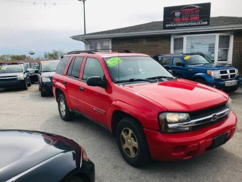 2002 Chevrolet TrailBlazer for sale at I57 Group Auto Sales in Country Club Hills IL