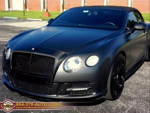 2013 Bentley Continental for sale at The New Auto Toy Store in Fort Lauderdale FL