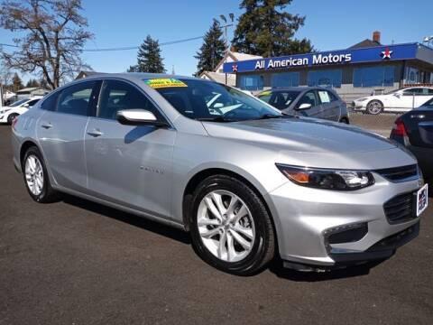 2018 Chevrolet Malibu for sale at All American Motors in Tacoma WA
