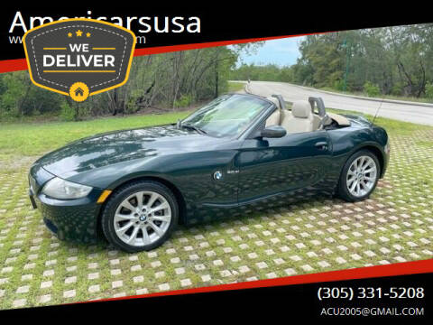 2007 BMW Z4 for sale at Americarsusa in Hollywood FL