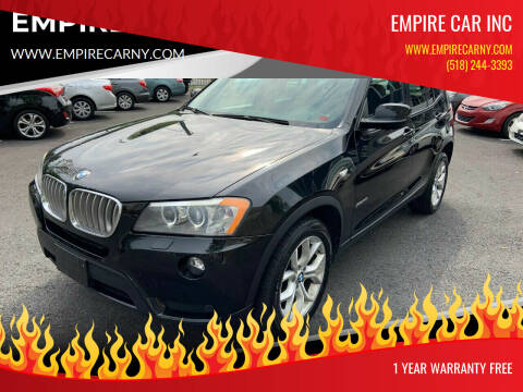 2011 BMW X3 for sale at EMPIRE CAR INC in Troy NY