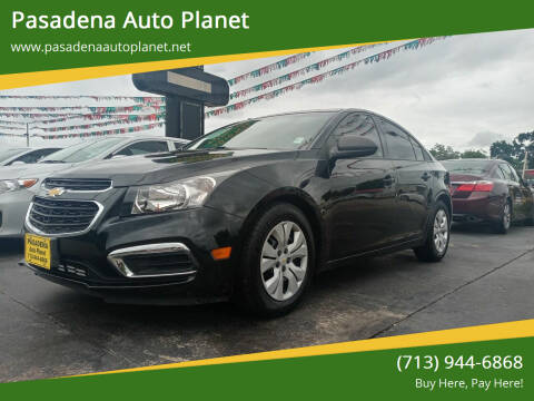 2015 Chevrolet Cruze for sale at Pasadena Auto Planet in Houston TX