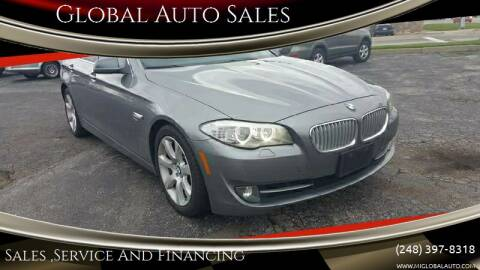 2011 BMW 5 Series for sale at Global Auto Sales in Hazel Park MI