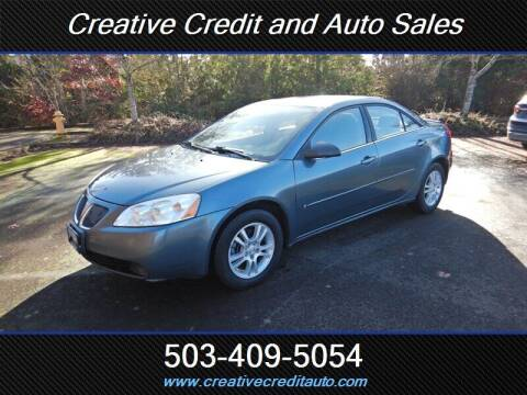 2006 Pontiac G6 for sale at Creative Credit & Auto Sales in Salem OR