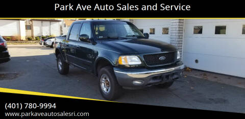 2002 Ford F-150 for sale at Park Ave Auto Sales and Service in Cranston RI