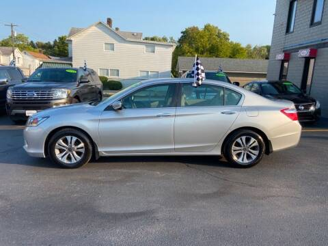 2014 Honda Accord for sale at Sisson Pre-Owned in Uniontown PA