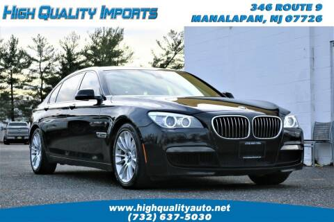 2014 BMW 7 Series for sale at High Quality Imports in Manalapan NJ