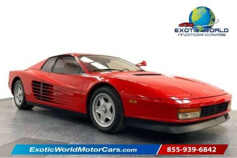 1986 Ferrari Testarossa for sale at Exotic World Motor Cars in Addison TX