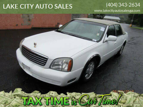 2004 Cadillac DeVille for sale at LAKE CITY AUTO SALES in Forest Park GA