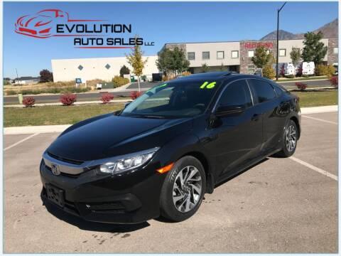2016 Honda Civic for sale at Evolution Auto Sales LLC in Springville UT
