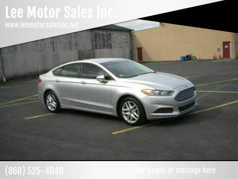 2014 Ford Fusion for sale at Lee Motor Sales Inc. in Hartford CT