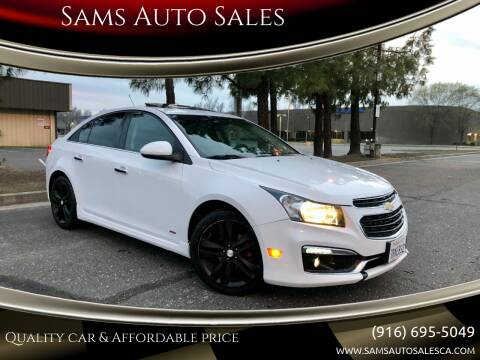 2015 Chevrolet Cruze for sale at Sams Auto Sales in North Highlands CA