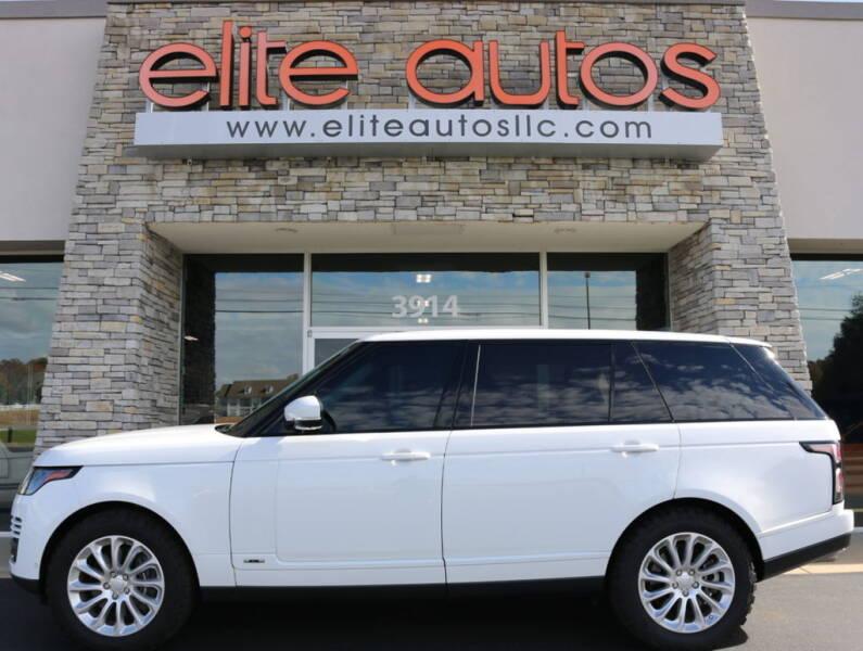 2018 Land Rover Range Rover for sale at Elite Autos LLC in Jonesboro AR