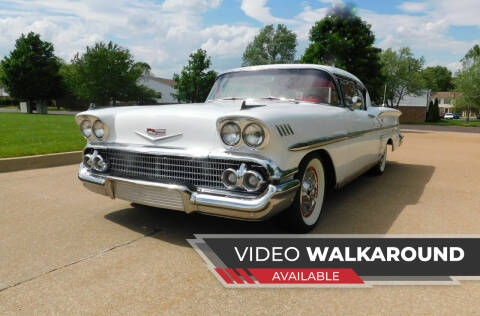 1958 Chevrolet Impala for sale at WEST PORT AUTO CENTER INC in Fenton MO