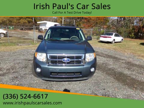 2011 Ford Escape for sale at Irish Paul's Car Sales in Burlington NC