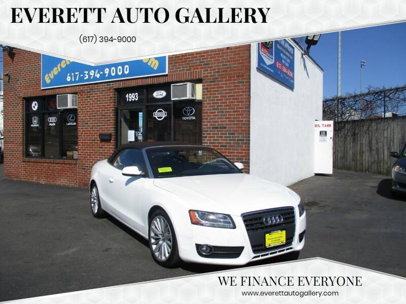 2011 Audi A5 for sale at Everett Auto Gallery in Everett MA