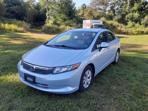 2012 Honda Civic for sale at Cappy's Automotive in Whitinsville MA