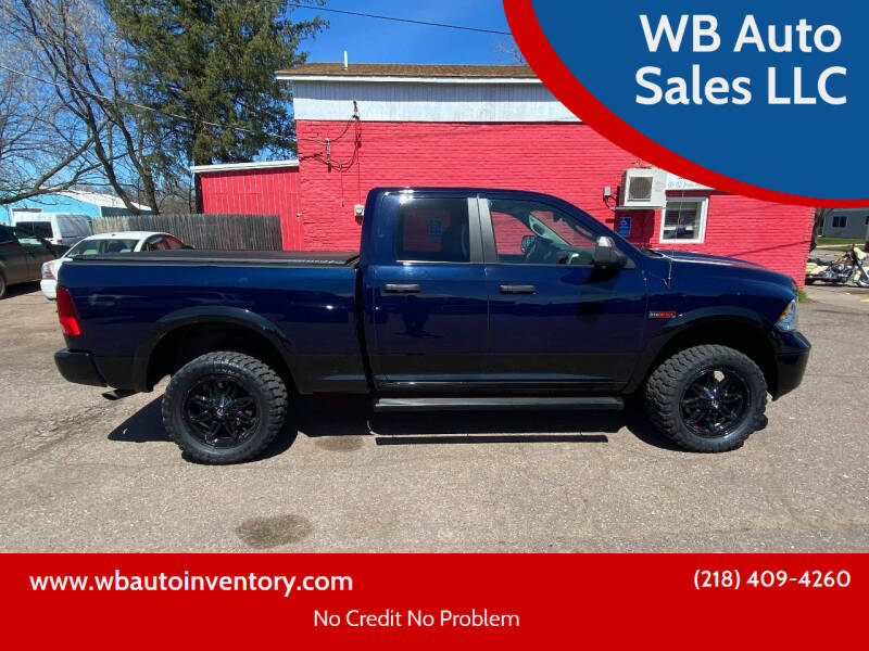 2016 RAM Ram Pickup 1500 for sale at WB Auto Sales LLC in Barnum MN