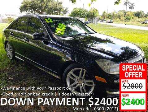 2012 Mercedes-Benz C-Class for sale at AUTO COLLECTION OF SOUTH MIAMI in Miami FL