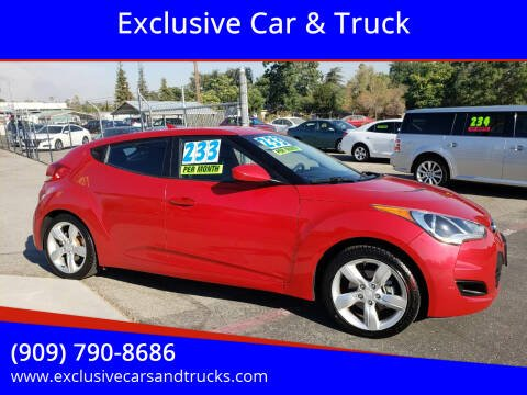 2015 Hyundai Veloster for sale at Exclusive Car & Truck in Yucaipa CA