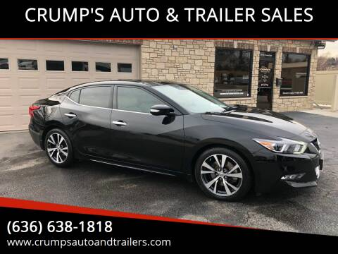 2017 Nissan Maxima for sale at CRUMP'S AUTO & TRAILER SALES in Crystal City MO