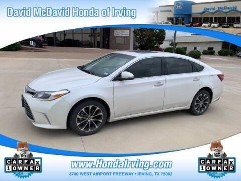 2018 Toyota Avalon for sale at DAVID McDAVID HONDA OF IRVING in Irving TX