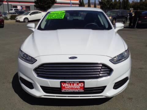 2016 Ford Fusion for sale at Vallejo Motors in Vallejo CA