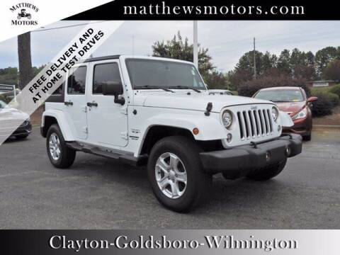 2017 Jeep Wrangler Unlimited for sale at Auto Finance of Raleigh in Raleigh NC