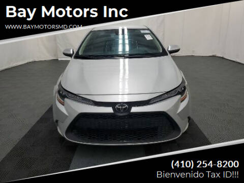 2020 Toyota Corolla for sale at Bay Motors Inc in Baltimore MD