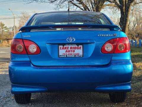 2007 Toyota Corolla for sale at Lake Ridge Auto Sales in Woodbridge VA