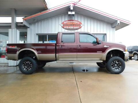 2004 Ford F-250 Super Duty for sale at Motorsports Unlimited in McAlester OK