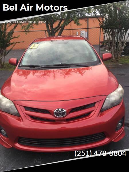2013 Toyota Corolla for sale at Bel Air Motors in Mobile AL