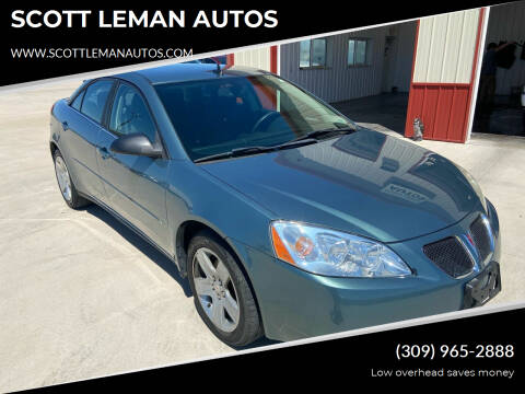 2009 Pontiac G6 for sale at SCOTT LEMAN AUTOS in Goodfield IL