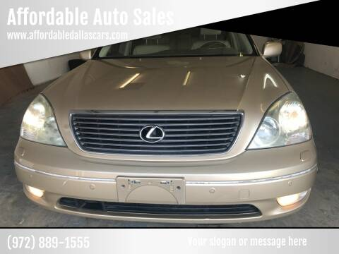 2003 Lexus LS 430 for sale at Affordable Auto Sales in Dallas TX