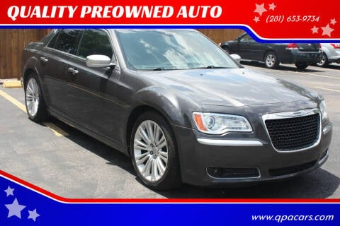 2013 Chrysler 300 for sale at QUALITY PREOWNED AUTO in Houston TX