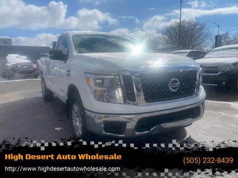 2017 Nissan Titan for sale at High Desert Auto Wholesale in Albuquerque NM