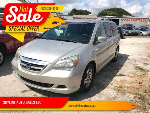 2005 Honda Odyssey for sale at SKYLINE AUTO SALES LLC in Winter Haven FL