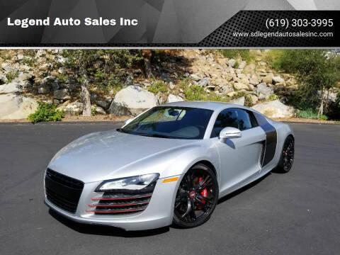 2011 Audi R8 for sale at Legend Auto Sales Inc in Lemon Grove CA