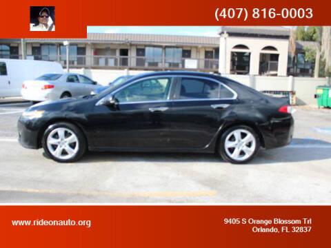 2009 Acura TSX for sale at Ride On Auto in Orlando FL
