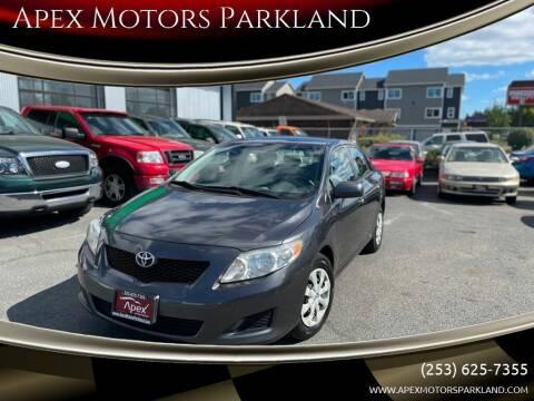 2010 Toyota Corolla for sale at Apex Motors Parkland in Tacoma WA