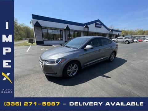 2018 Hyundai Elantra for sale at Impex Auto Sales in Greensboro NC