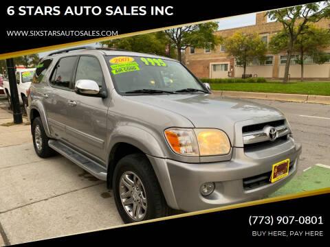 2007 Toyota Sequoia for sale at 6 STARS AUTO SALES INC in Chicago IL