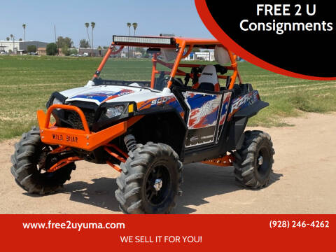 2013 Polaris RZR XP for sale at FREE 2 U Consignments in Yuma AZ