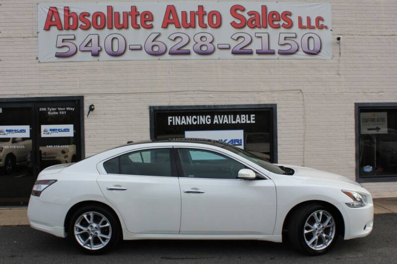 2012 Nissan Maxima for sale at Absolute Auto Sales in Fredericksburg VA